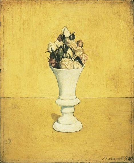 Giorgio Morandi, Vase of Flowers 1920 on ArtStack #giorgio-morandi #art