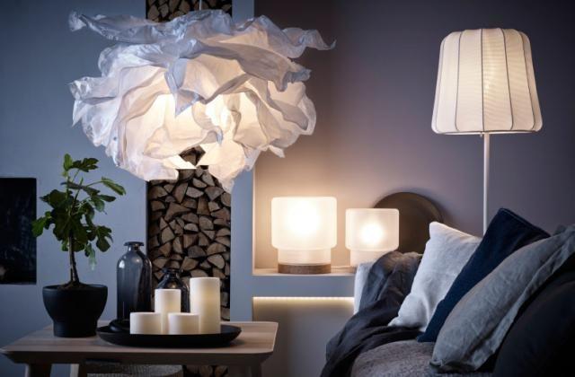 Hängeleuchtenschirm Krusning Papier Lampe WeißLampen Ikea UMVpSzq
