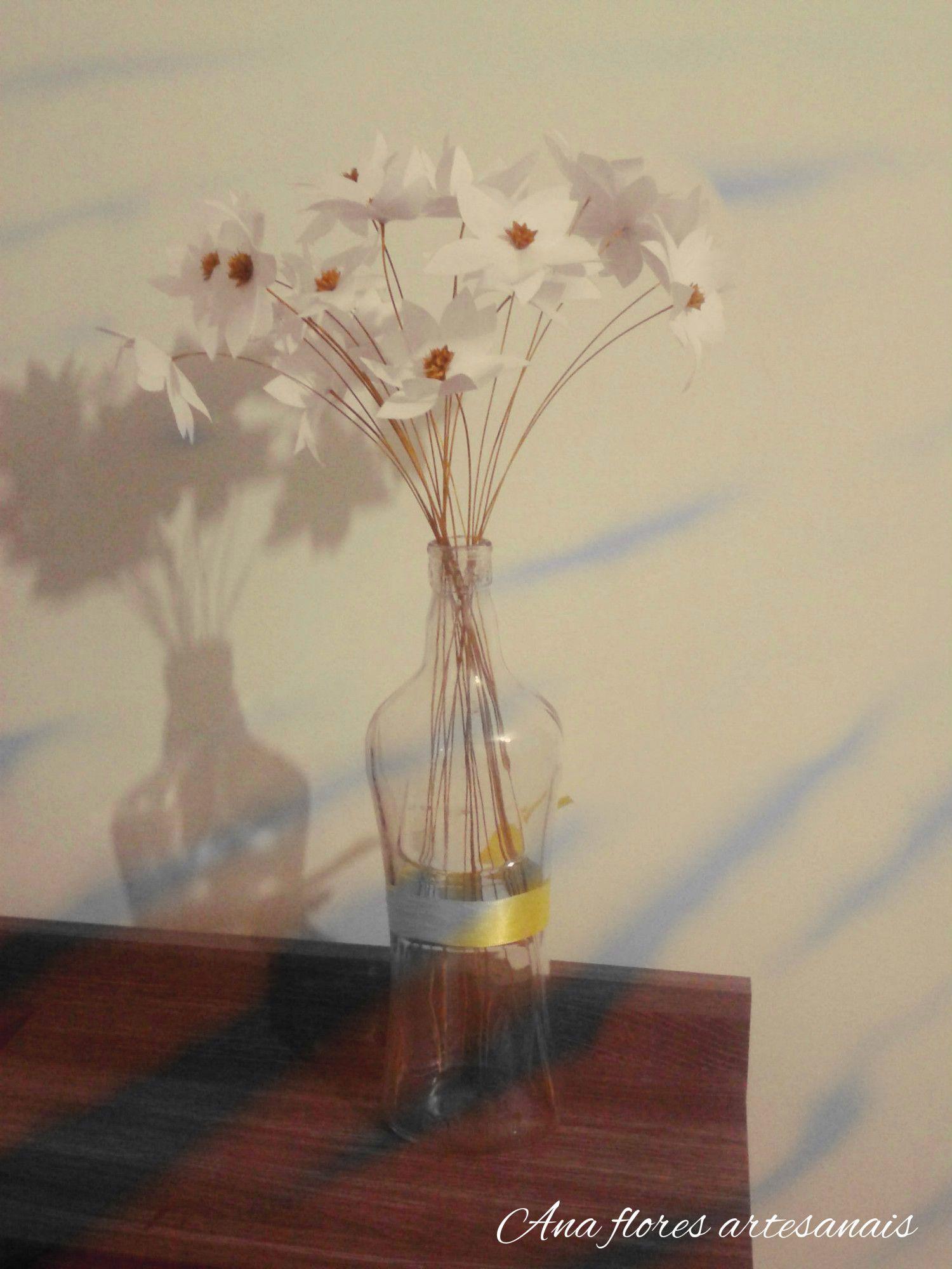 Flores de tecido com Sempre viva Um mimo para sua casa.