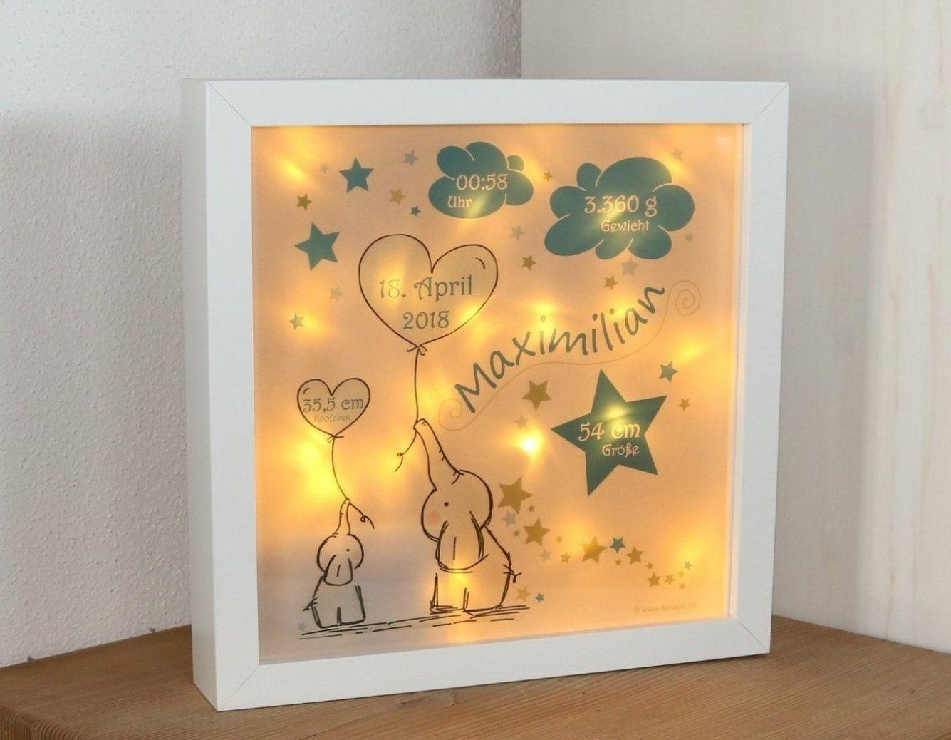 Baby Kinder Led Nacht Lampe Elefanten In Blau Personalisiertes Geschenk Zur Geburt In 2020 Led Night Lamp Night Light Led Lamp