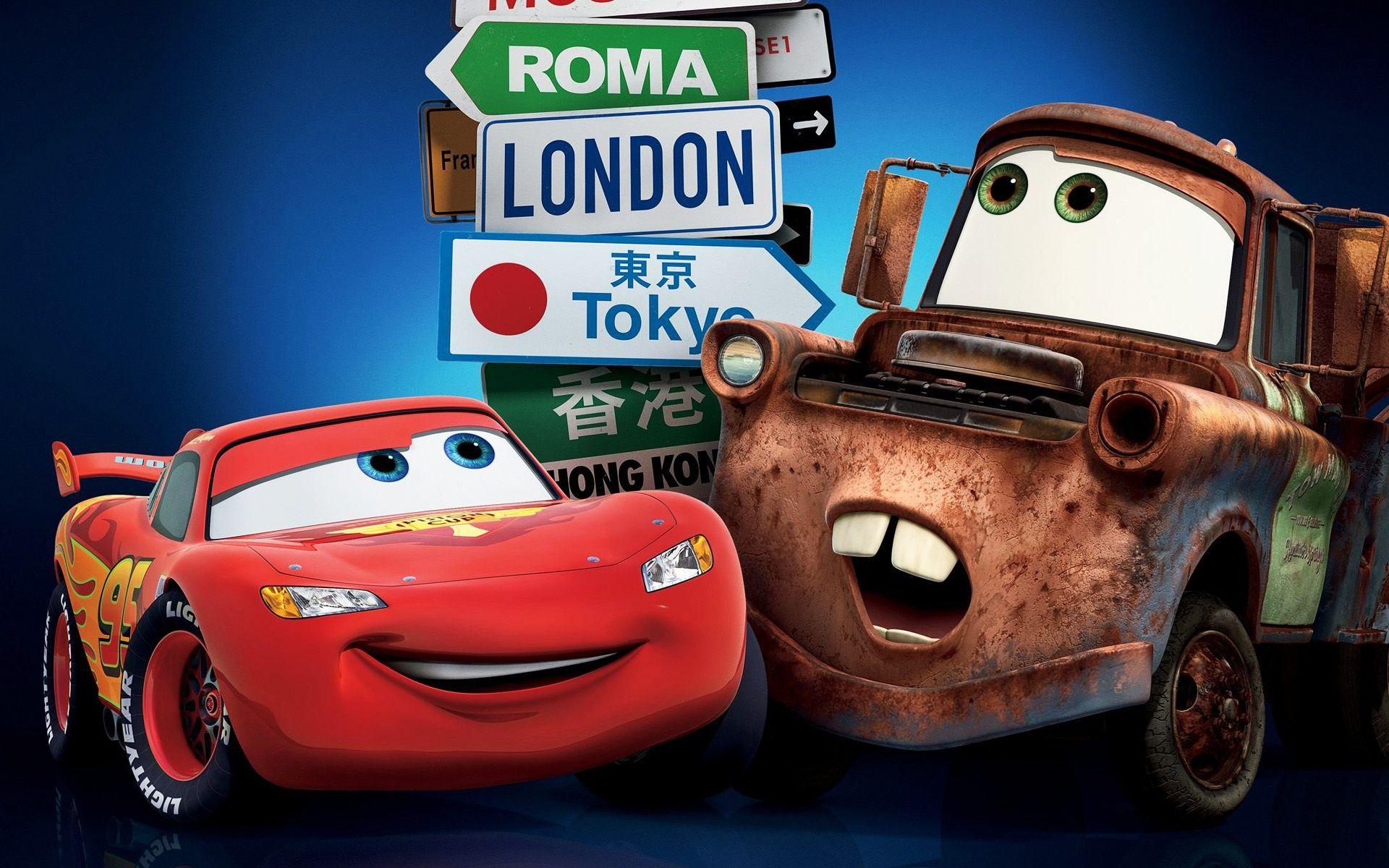 Cars 2 London Tokyo Hd Desktop Wallpaper Wallpapersme