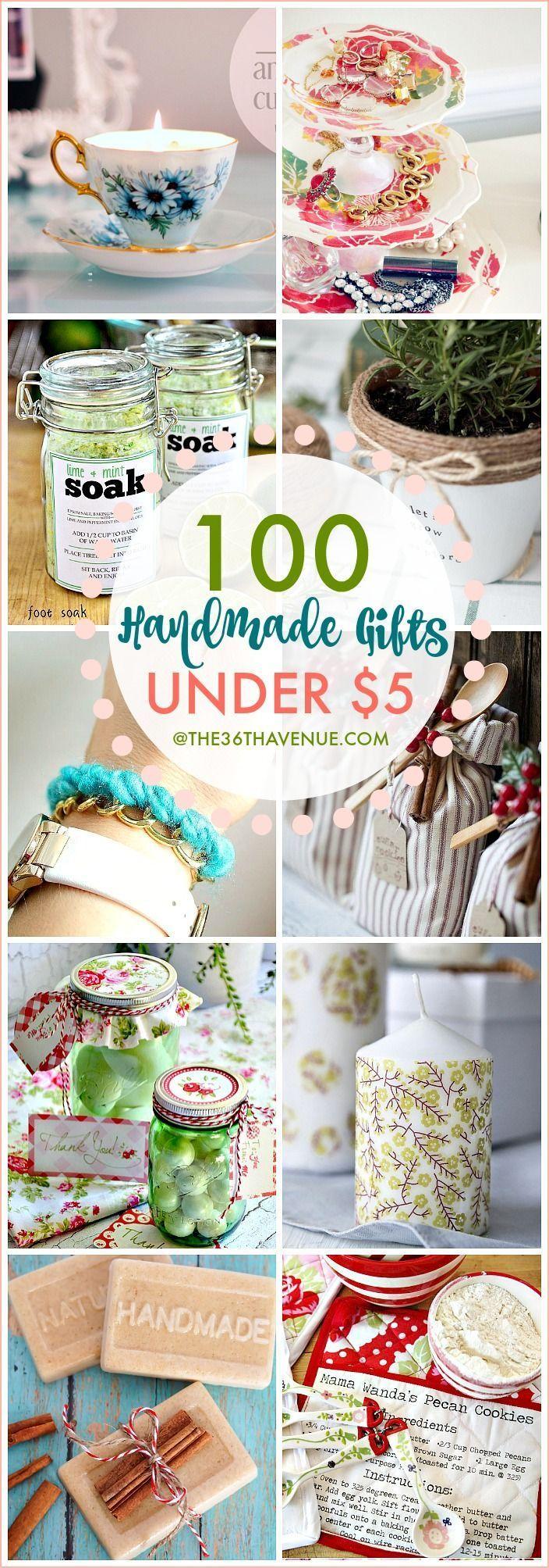 100 Handmade Gifts Under Five Dollars Easy Handmade Gifts Homemade Christmas Gifts Homemade Gifts