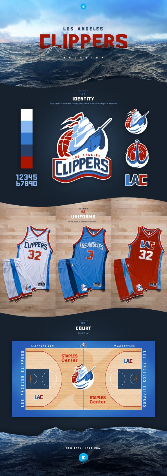 Another Solid La Clippers Branding Concept Sports Logo Design