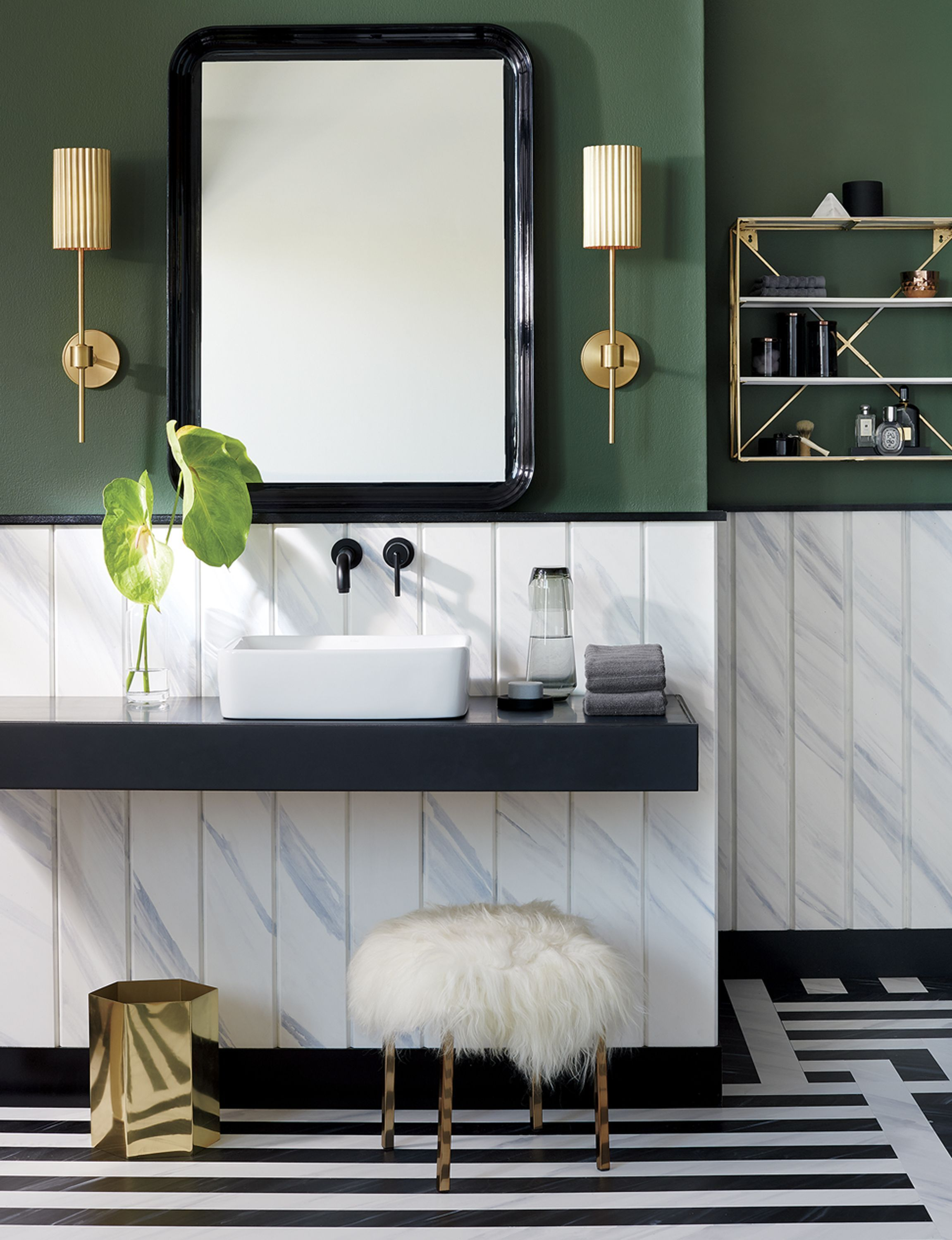 Modern Bathroom Forest Green Wall Color Is Speaking To Me Modernbathroomcolors Green Bathroom Decor Eclectic Bathroom Green Bathroom Colors