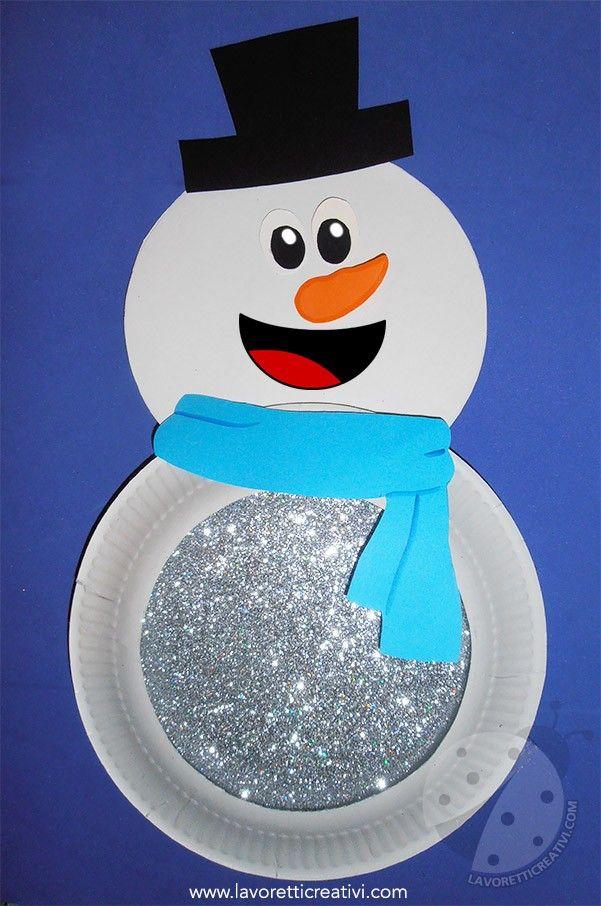 Lavoretti Sull Inverno Per Bambini Pupazzo Di Neve Con