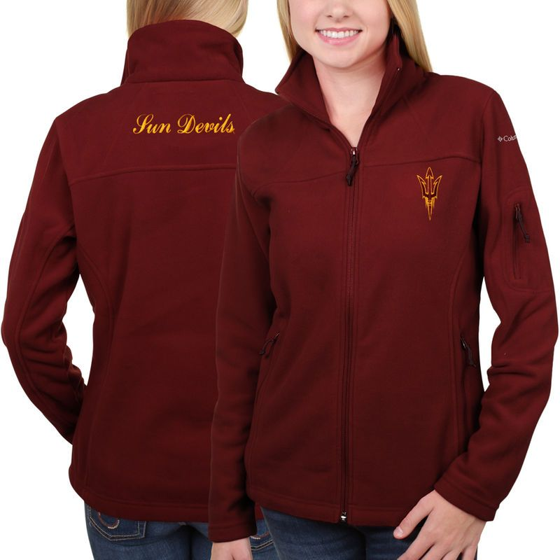 Arizona State Sun Devils Columbia Women's Give & Go Full Zip Jacket – Maroon