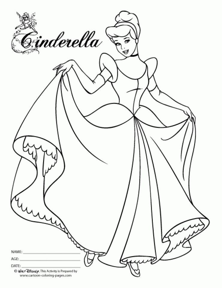 Disney Princess Coloring Pages Cinderella To Print Cinderella Coloring Pages Disney Princess Coloring Pages Princess Coloring Pages