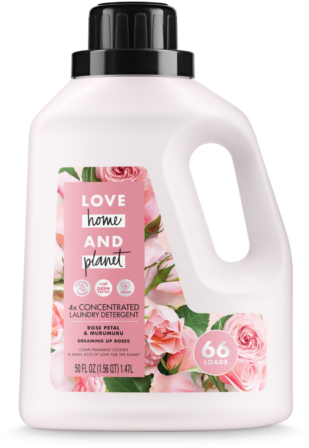 Love Home And Planet Concentrated Laundry Detergent Rose Petal