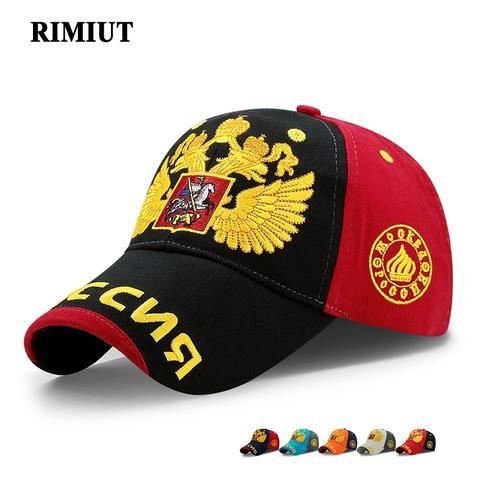 da8efac886c 2017 Russia National Emblem Golden Double-Headed Eagle Cap Adjustable Cotton  Hat Snapback Gorras Hip Hop Men Women Baseball Cap