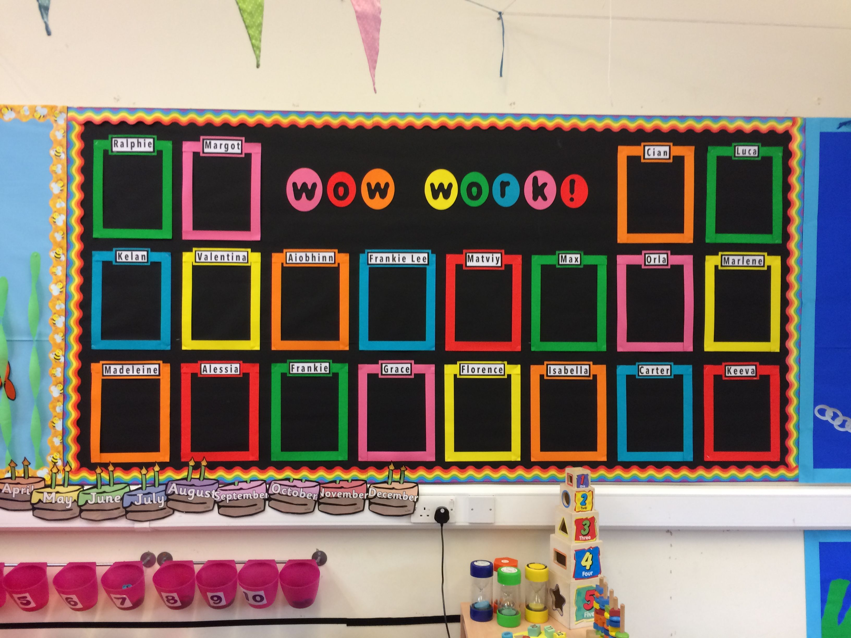 This Is A Wow Work Bulletin Board For When The Kids Do