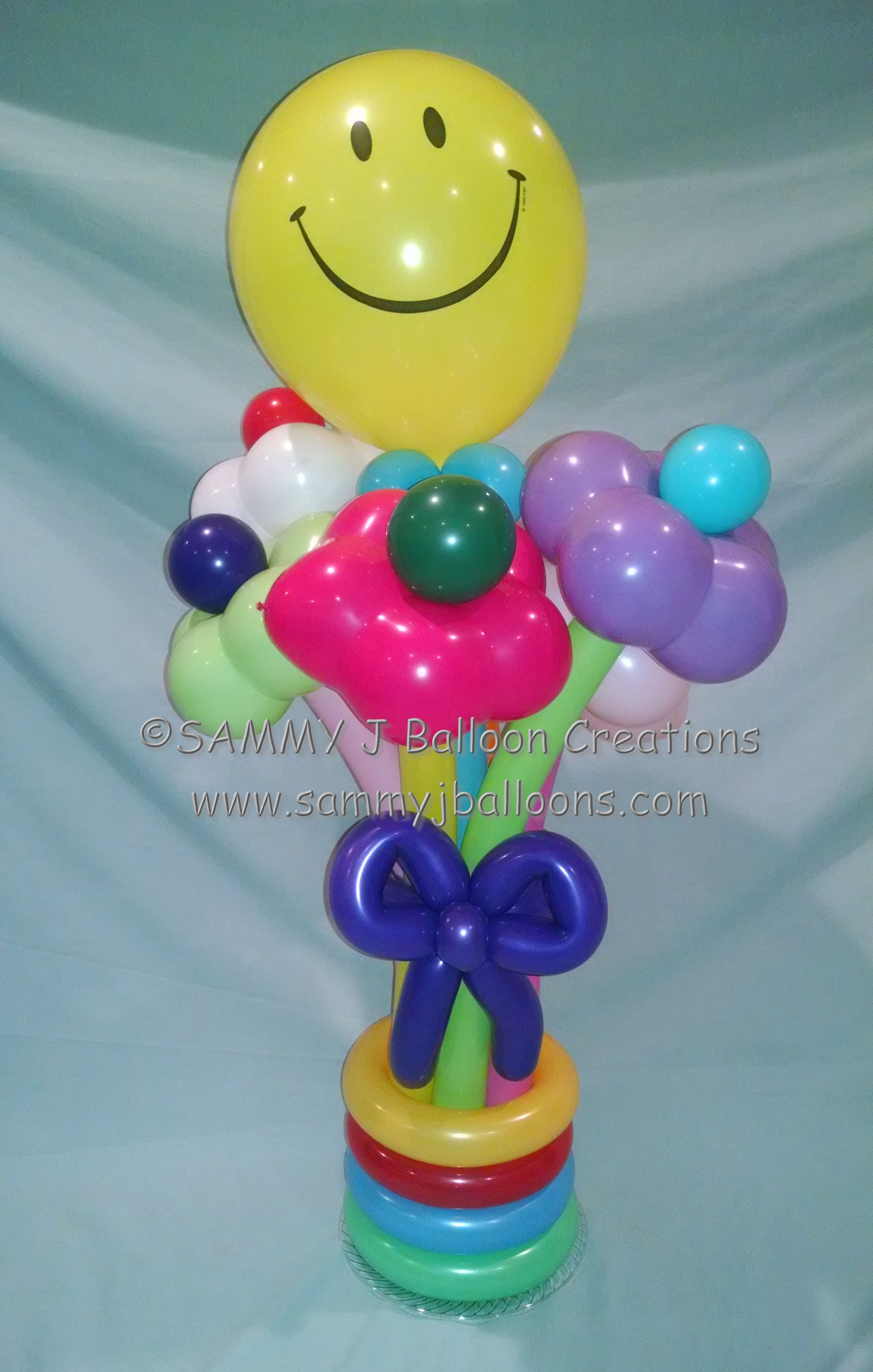 A beautiful balloon flower bouquet delivered for a birthday party ...