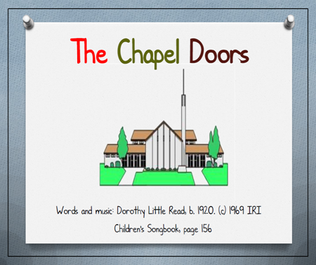 Primary Reverence SongThe Chapel Doors - new Flipchart  sc 1 st  Pinterest & Primary Reverence Song:The Chapel Doors - new Flipchart | Relief ...