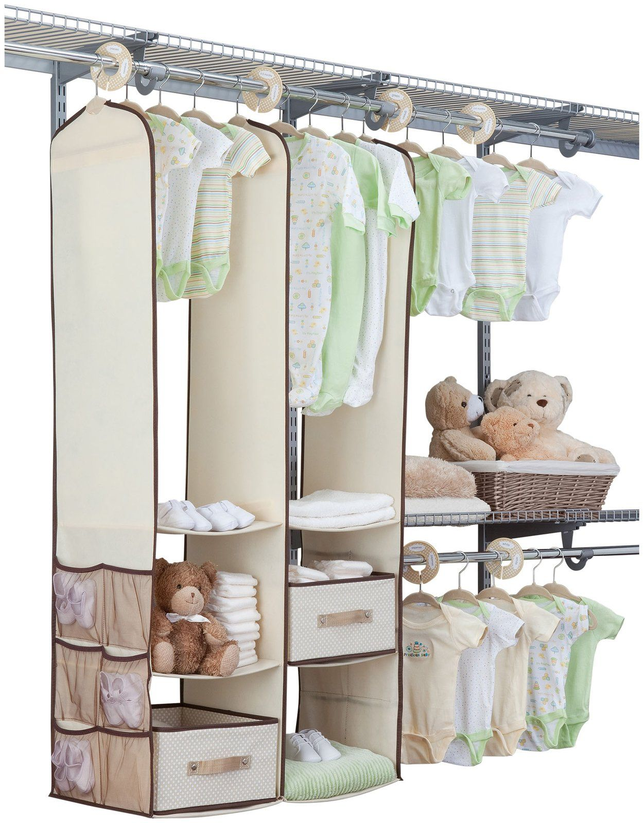 Delta 24pc Nursery Closet Set Beige