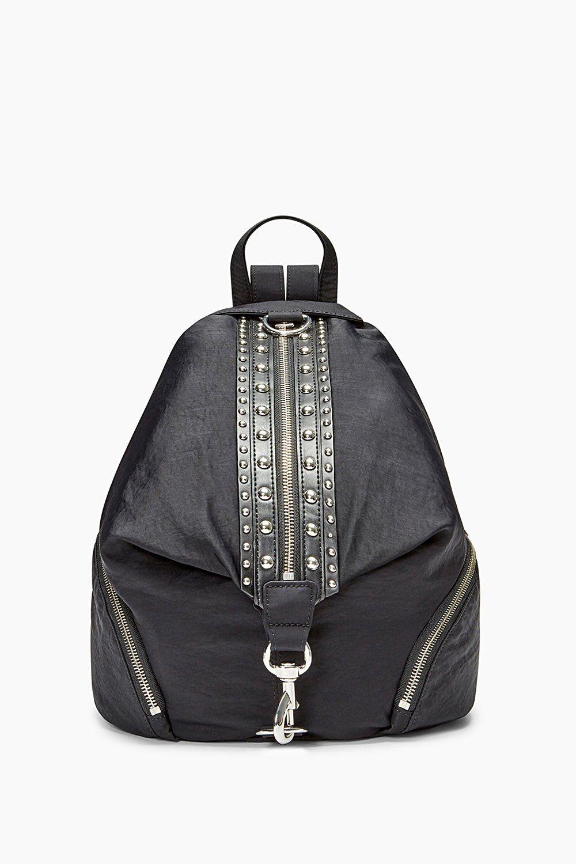 Julian Nylon Backpack With Studs  9b6a0c9b34aea