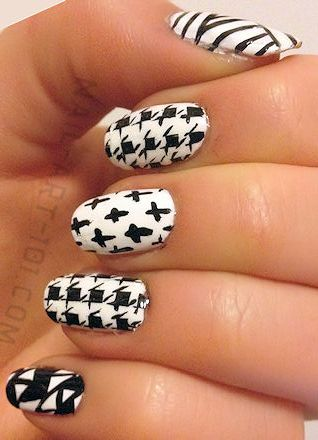 houndstooth nail art tutorial with stepstep photos and