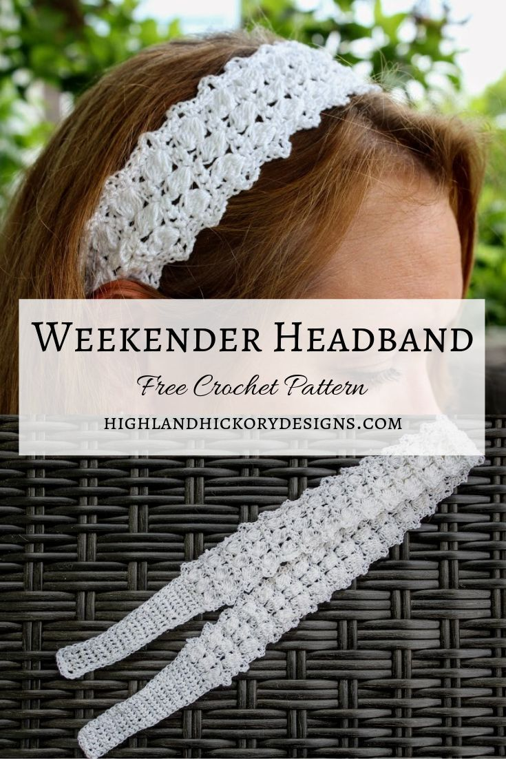 Weekender Headband - Highland Hickory Designs - Free Crochet Pattern