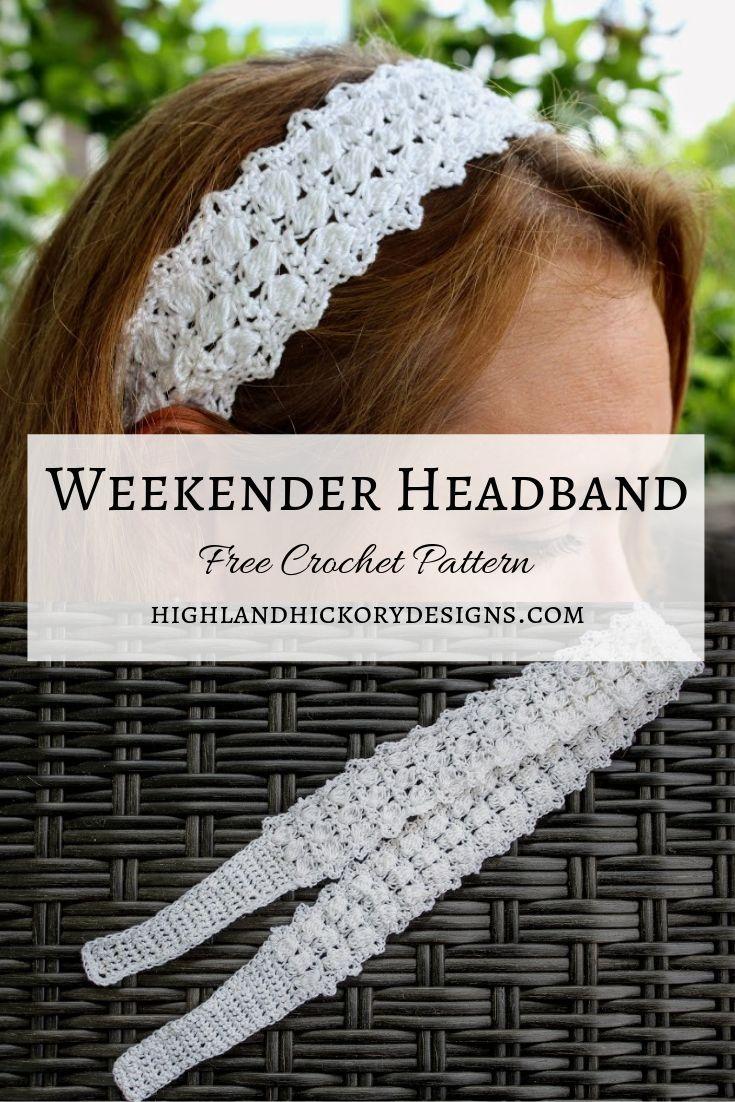 Weekender Headband - Highland Hickory Designs - Free Crochet Pattern