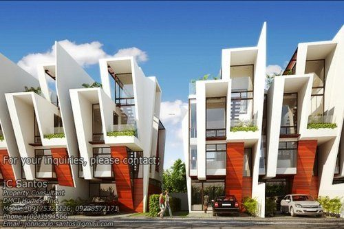 architecture and home design two townhouses modern house design