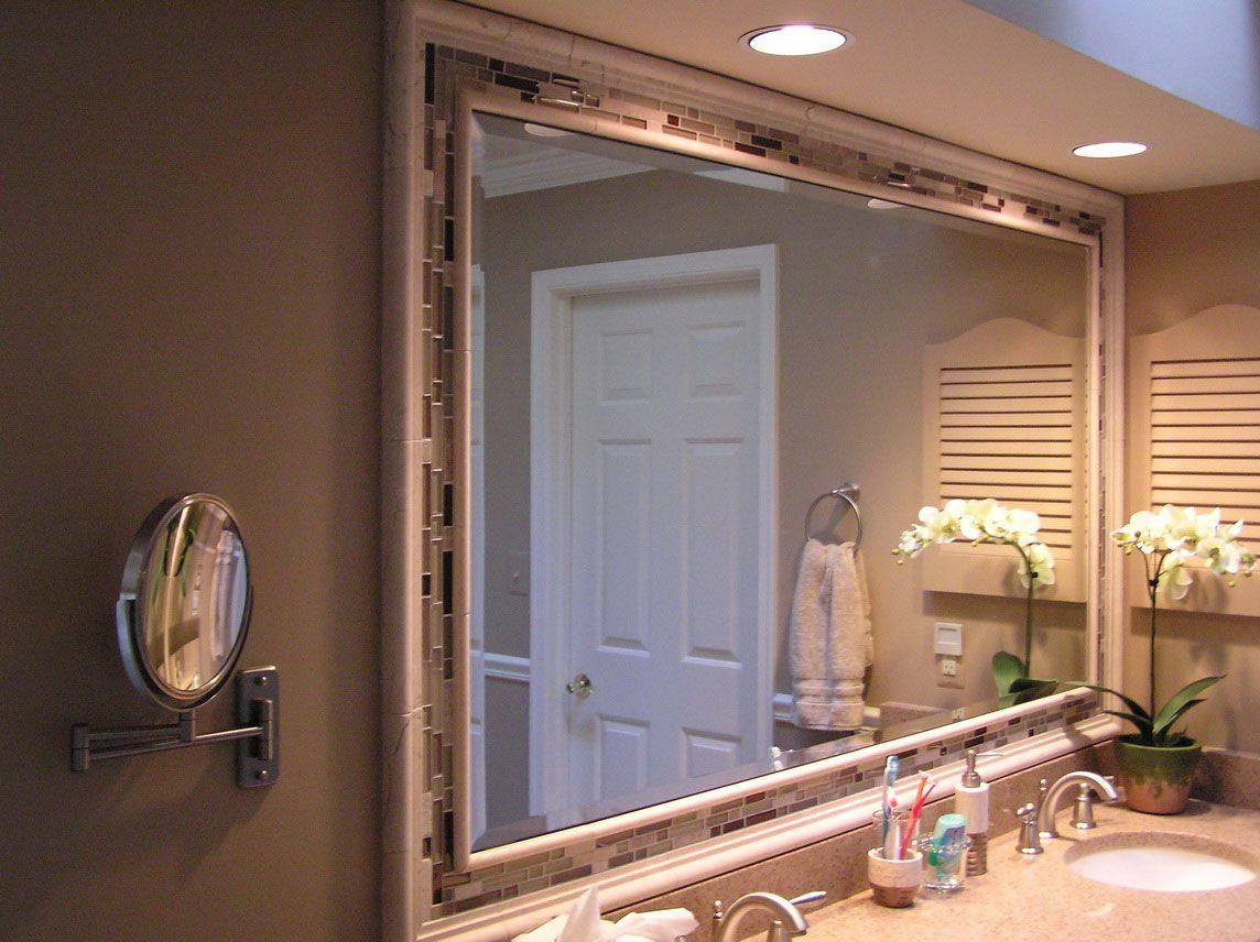 Bathroom : Modify Your Bathroom With Modern Furniture Bathroom Like Bathroom  Mirror Ideas Framed Luxury White Hardwood Over Sinks Cabinet Completed  Ceiling ...