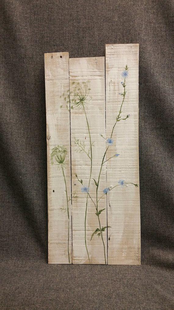 Palettenkunst, Wildblumen, Bauernhausdekor, Frühjahrshaus FARMHOUSE, weiße ... #wildflowers