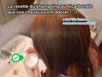 Femme qui va se mettre du shampoing au bicarbonate sur les cheveux