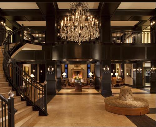 Looks like the lobby of a luxurious hotel
