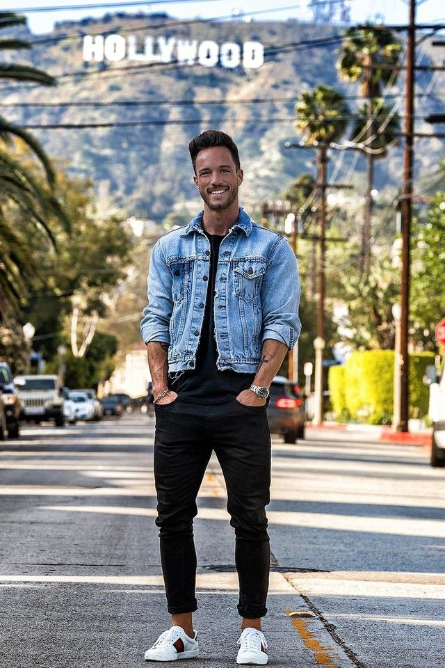 Daniel Fox wearing Levi\u0027s The Trucker Jacket, Gucci Leather