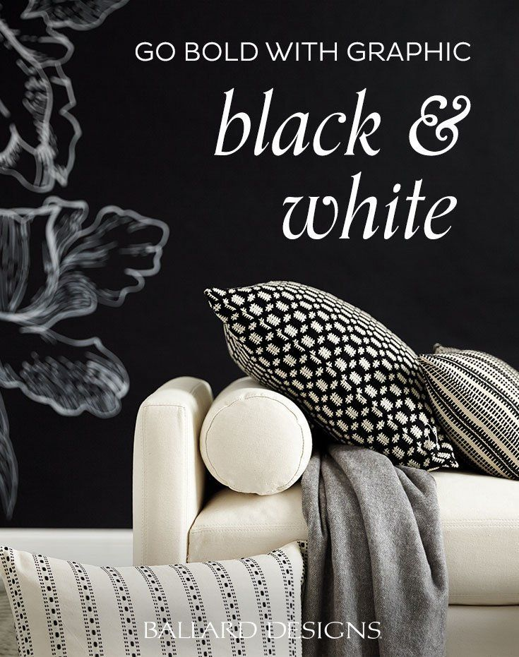 3 Home Decor Trends For Spring Brittany Stager: Bold Graphic Black & White Home Decor