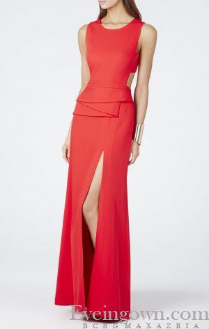 BCBG Kiara Sleeveless Peplum Evening Dress Red | 2018 Evening Dresses |  Pinterest