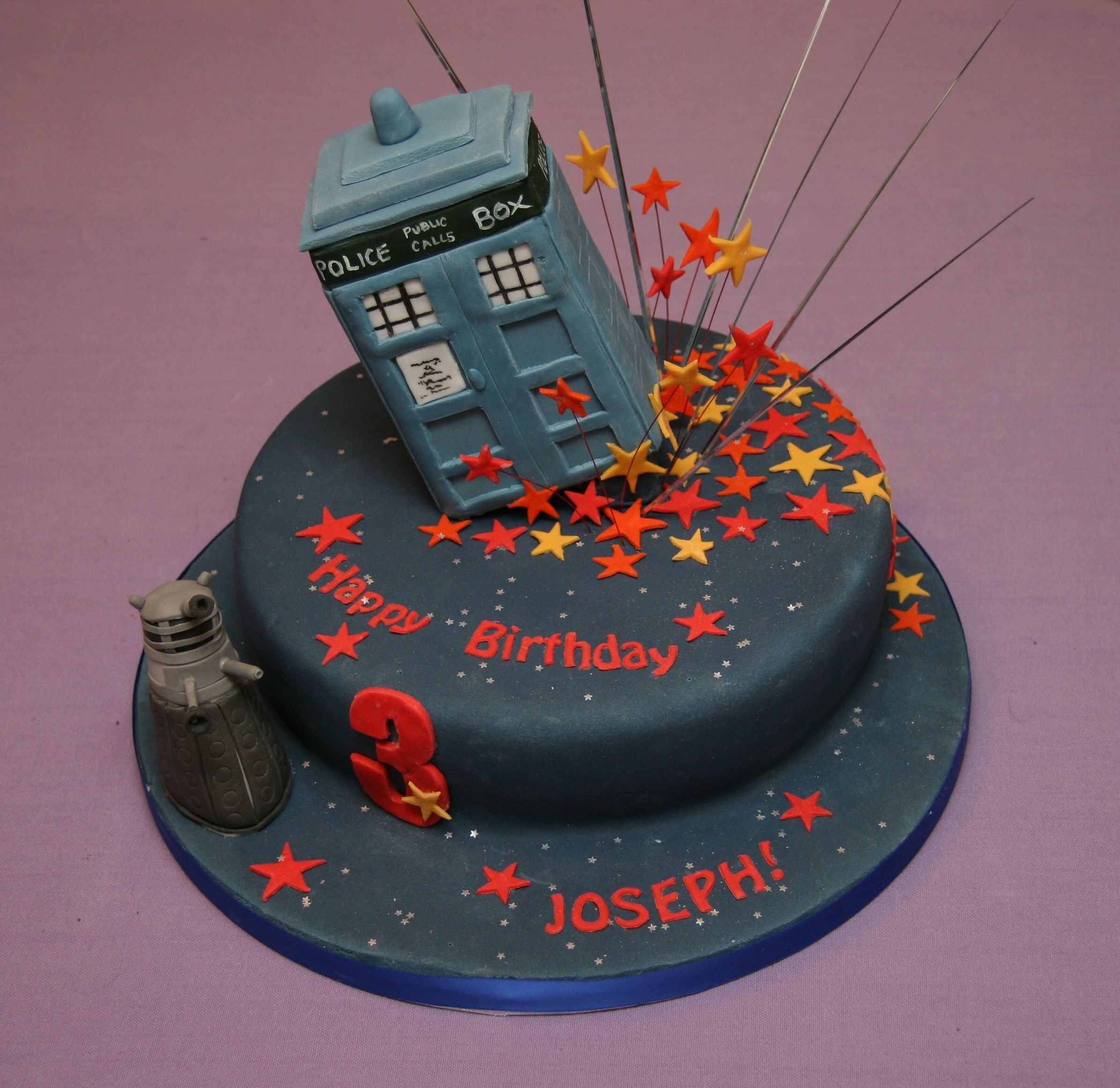 This will be Alexs birthday cake Dr Who Party Time