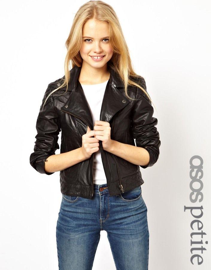 Black biker jacket asos