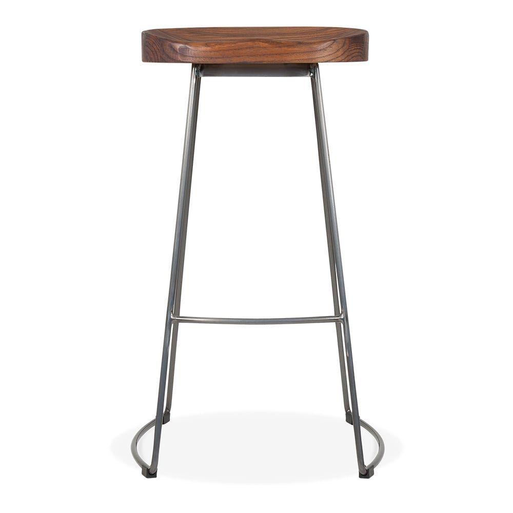 bar stools metal and wood. Victoria Metal Bar Stool With Wood Seat Option - Gunmetal 75cm: Amazon.co.uk: Kitchen \u0026 Home Stools And O