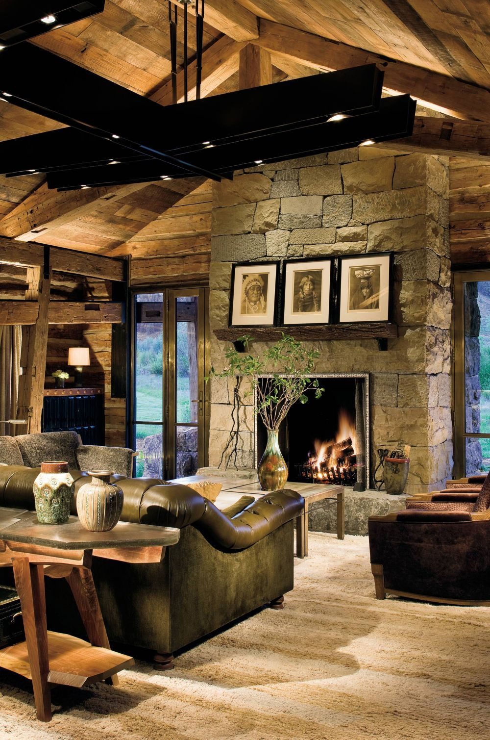 Drawing Room Interior Design Photos: Rustic Living Room By Studio Sofield