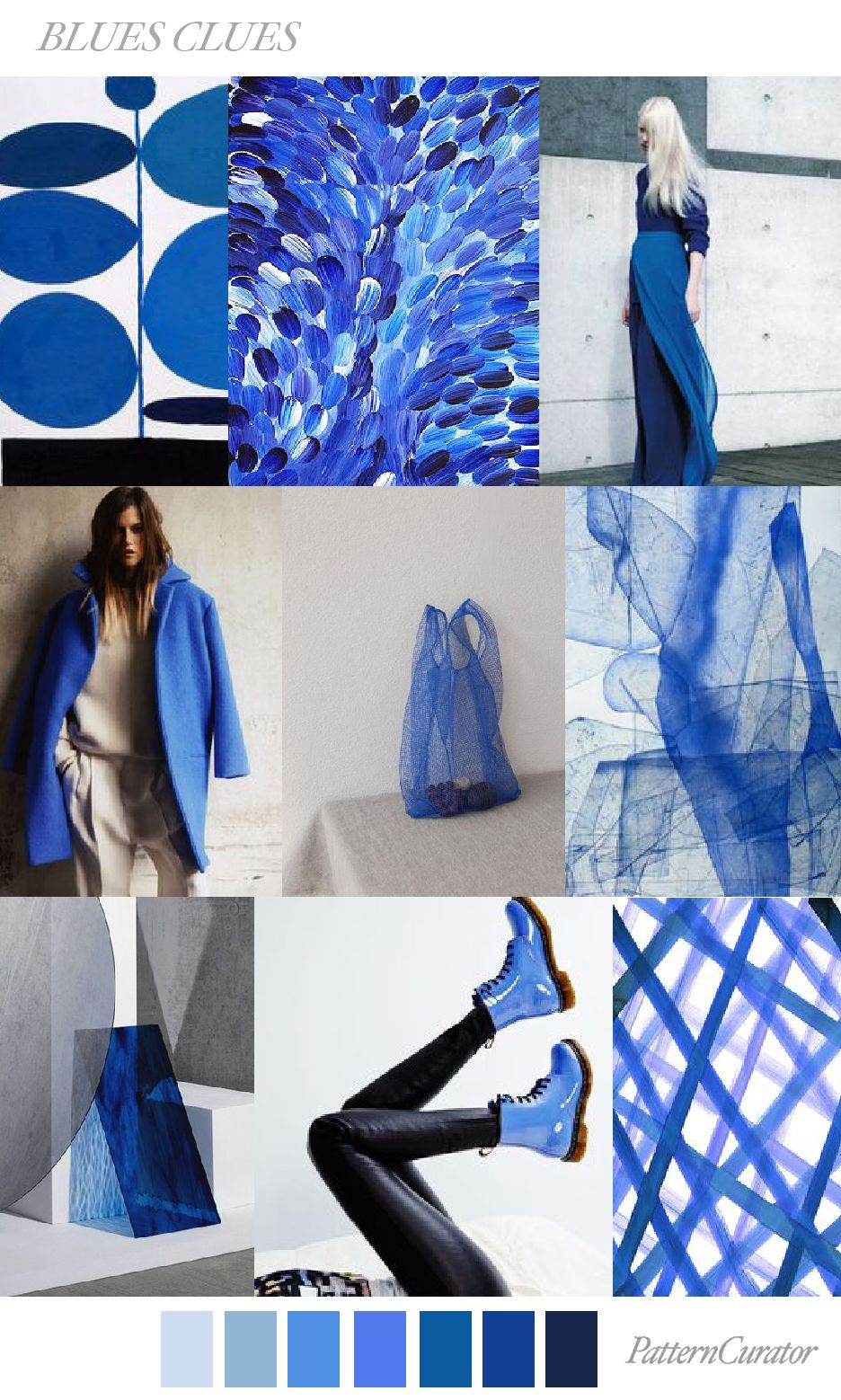 BLUES CLUES by PatternCurator