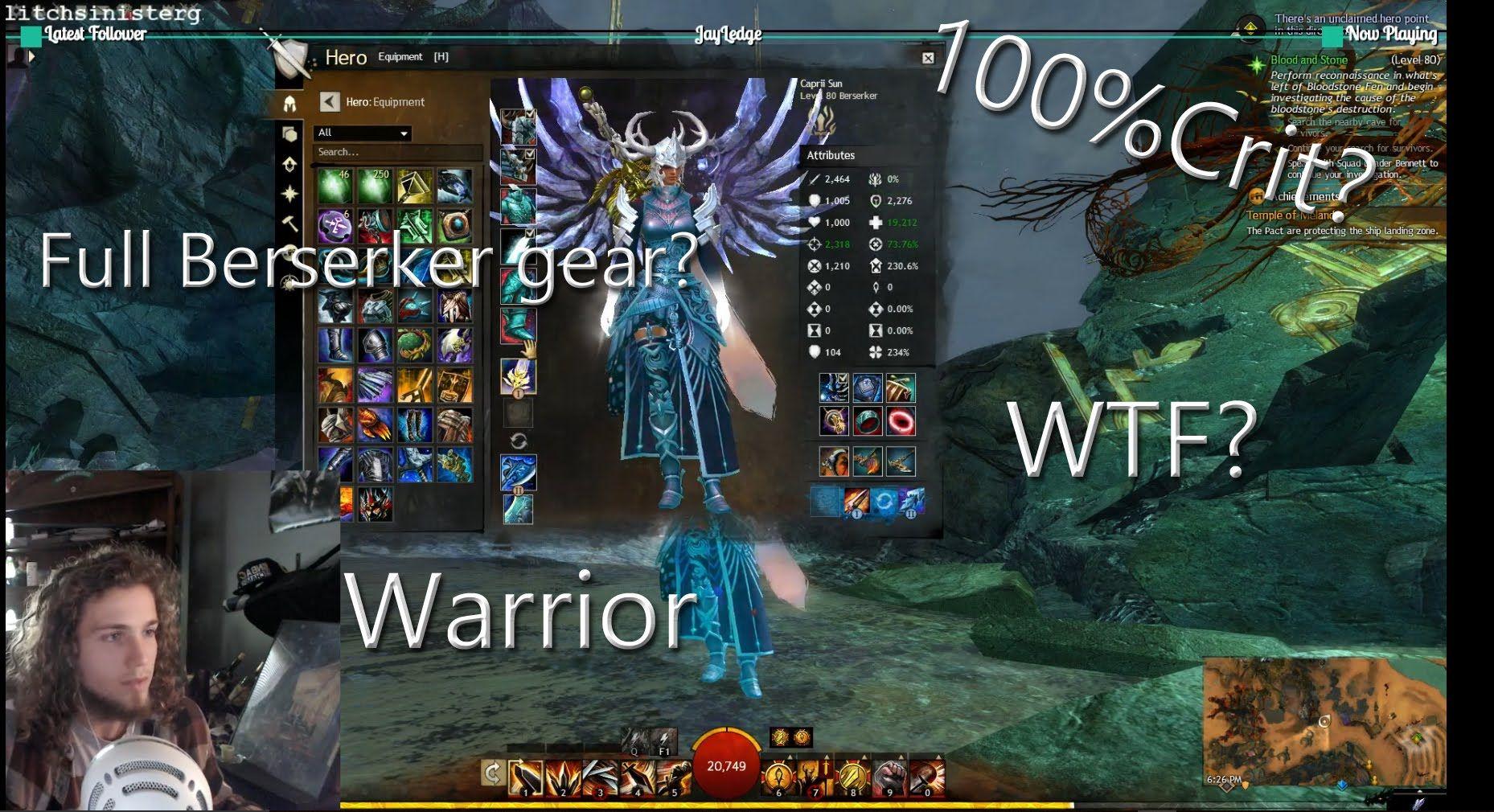Guild wars 2 pve warrior build (face owner) youtube.