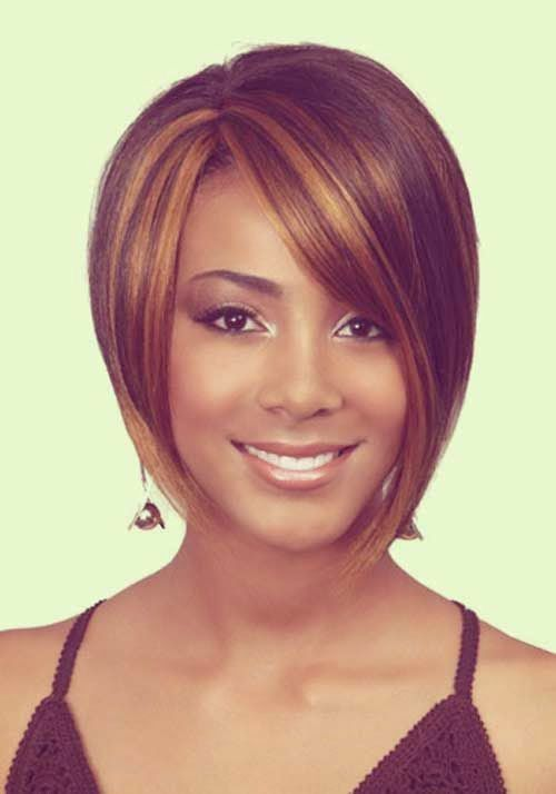 African American Short Hairstyles for Long Faces