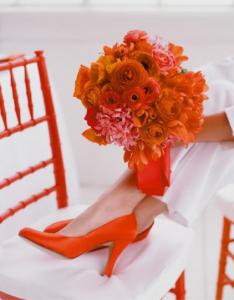 Scarpe Arancioni Sposa.Colora Le Tue Nozze Di Arancione Bouquet Da Sposa Rosso