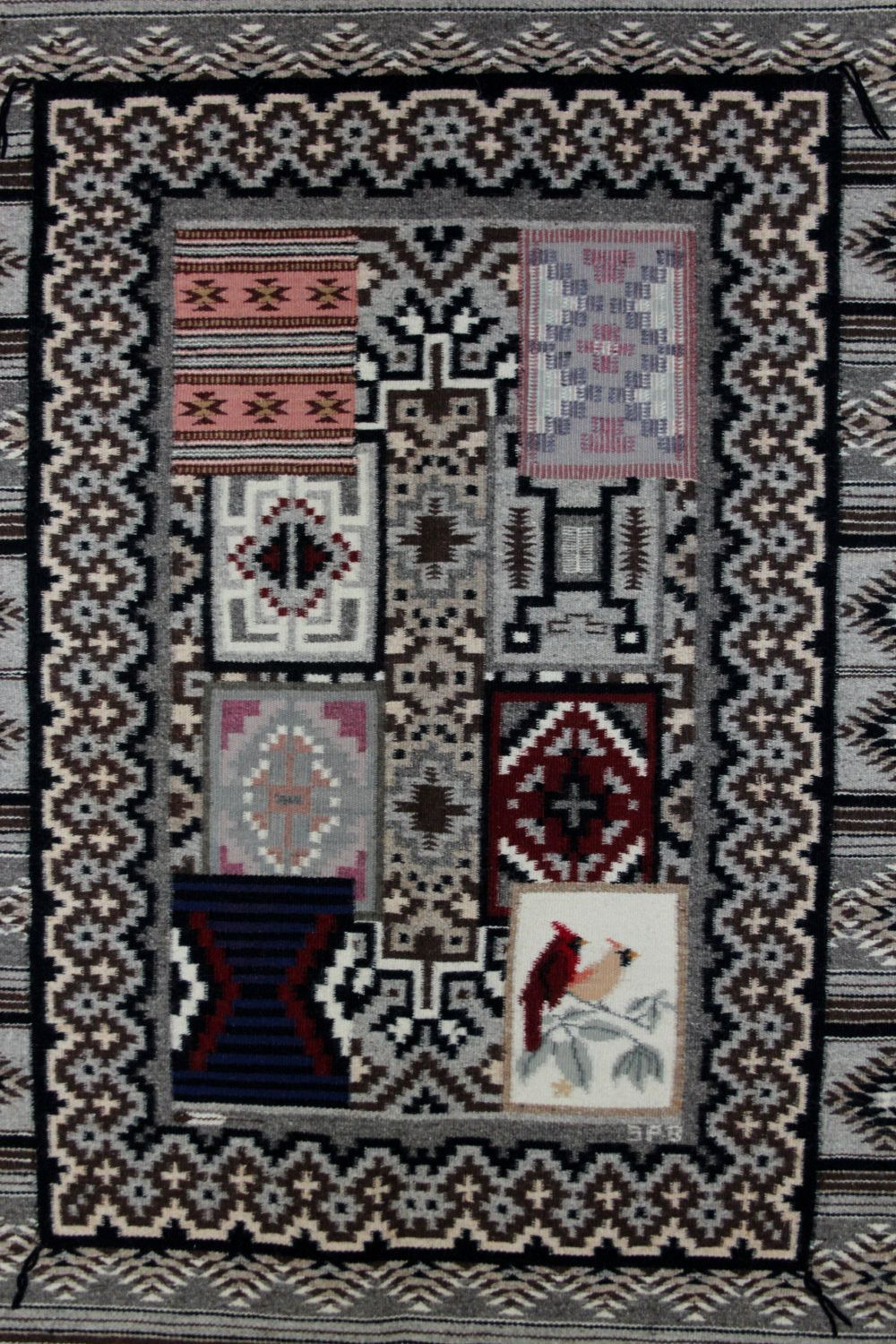 Navajo Pictorial Rug Native American Wool Rugs Weaving Southwestern