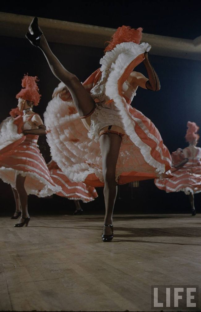 The Can Can Dancers At The Moulin Rouge 1950s Moulin Rouge