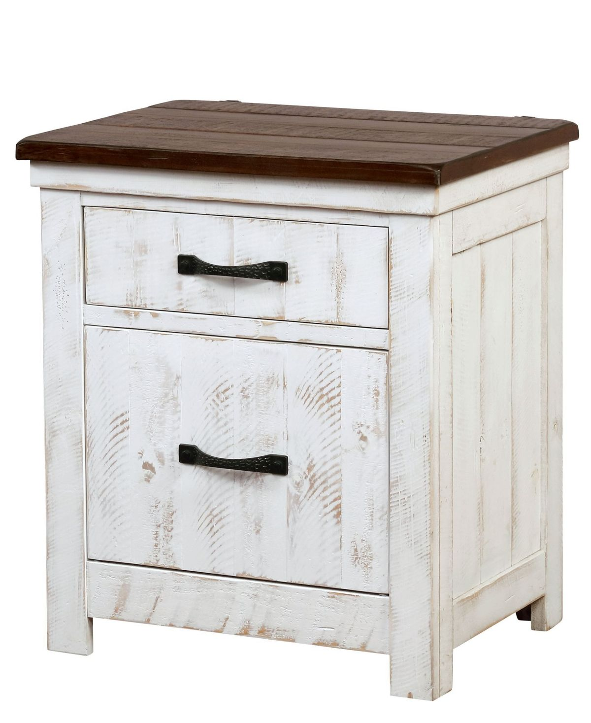 Furniture Of America Willow Crest Distressed White 3 Drawer Nightstand White In 2021 White Distressed Furniture Furniture Of America Small Nightstand