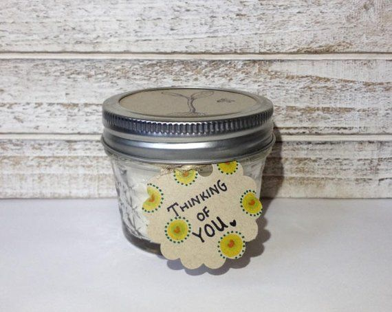 Jasmine or Unscented 4 ounce mason jar Soy Wax Candle with ...