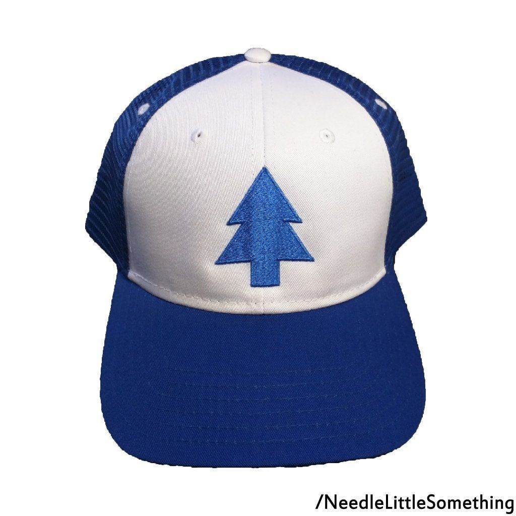 70ce69b3c74 Dipper Pines Blue Pine Tree Gravity Falls Cosplay Embroidered Hat