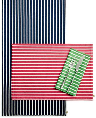 kate spade new york Harbour Drive Table Linens Collection - Table Linens - Dining & Entertaining - Macy's