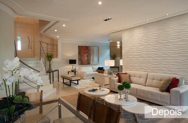 Sala estar sof parede revestimento 3d antes for Revestimento 3d sala de estar