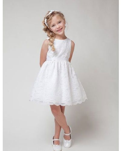 Lace Flower Girl Dress With Sash, little girl birthday dresses ...