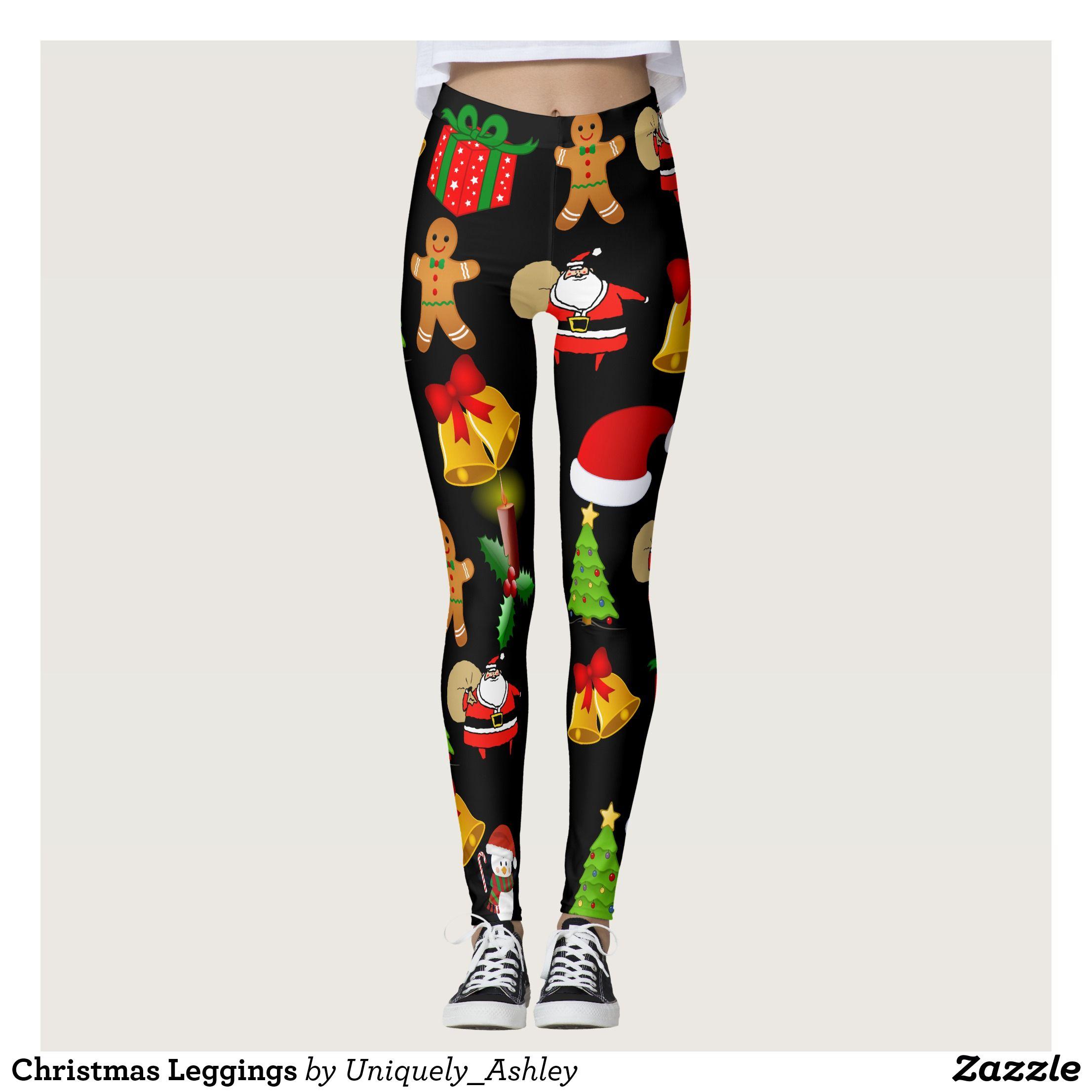 Christmas Running Leggings.Christmas Leggings Zazzle Com In 2019 Christmas Leggings