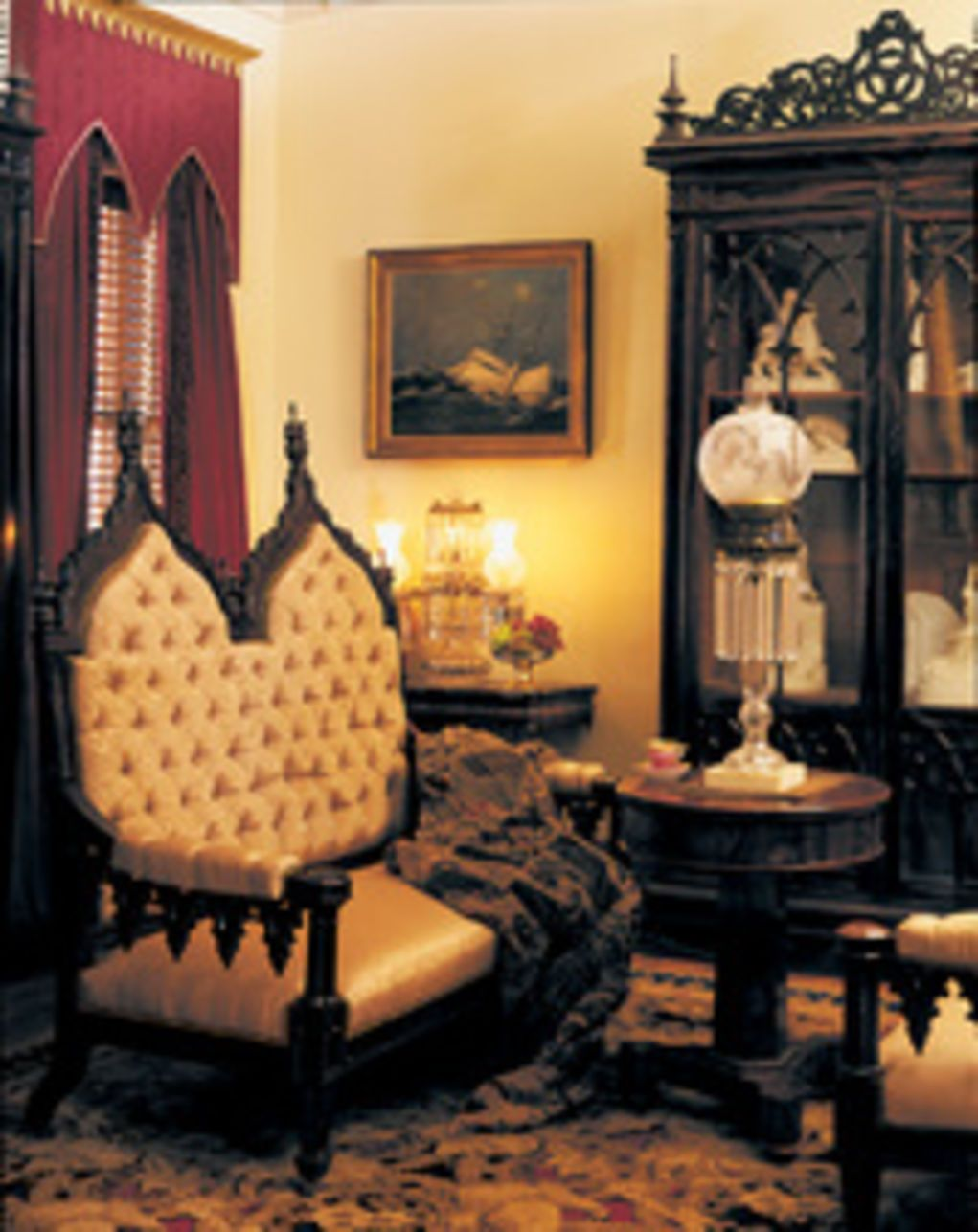 Gothic Revival Interior gothic revival & carpenter gothic houses | old house online