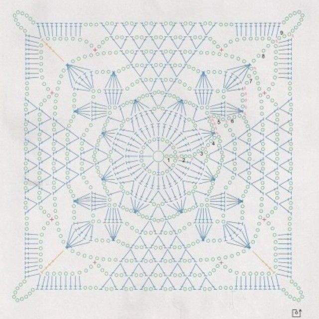 Rustic Lace square pattern