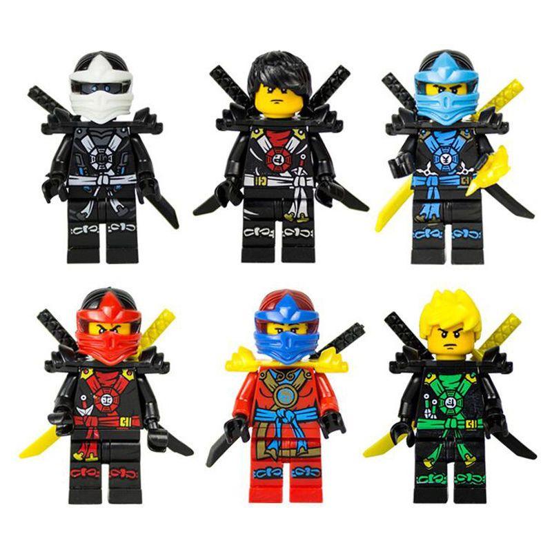Ninjago lot de 6 mini figures cole lloyd titanium zane jay - Ninjago kai jay zane cole lloyd ...