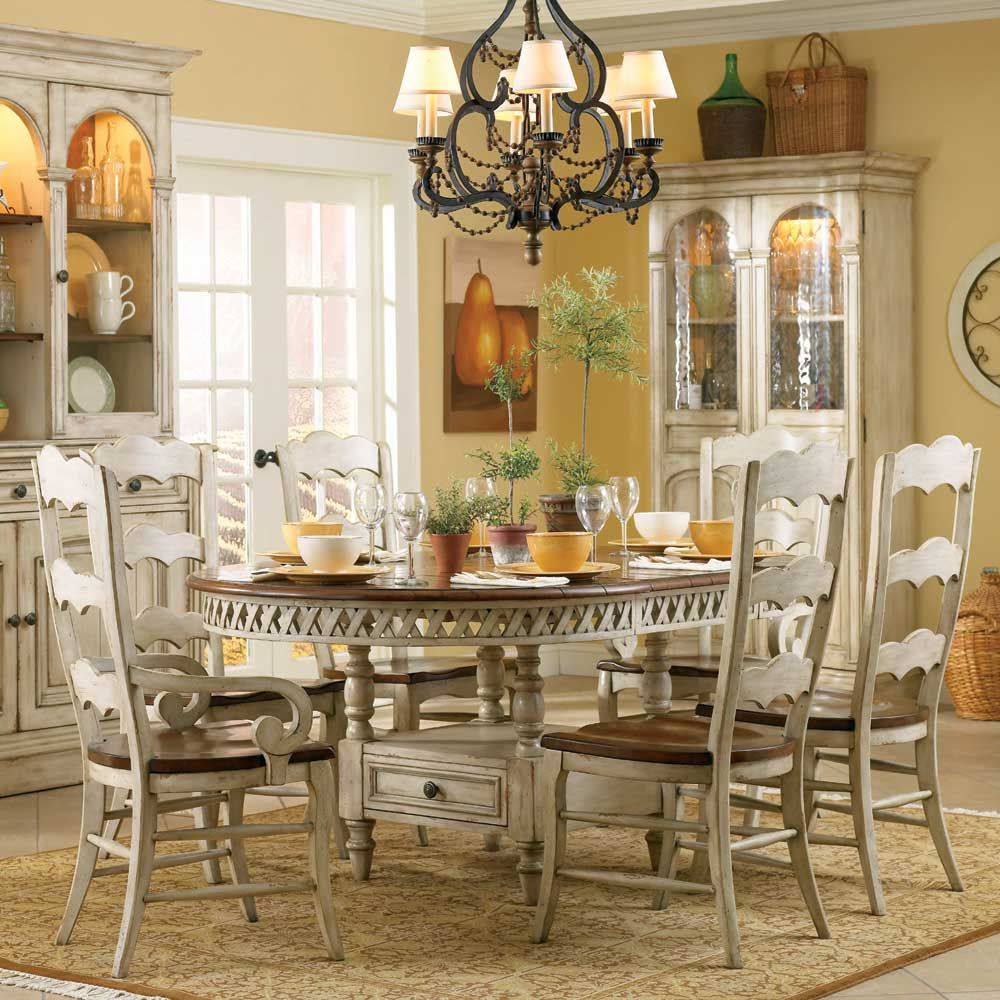 Summerglen 7 Piece Sethooker Furniture  Casual Dining Unique 7 Piece Round Dining Room Set Design Decoration